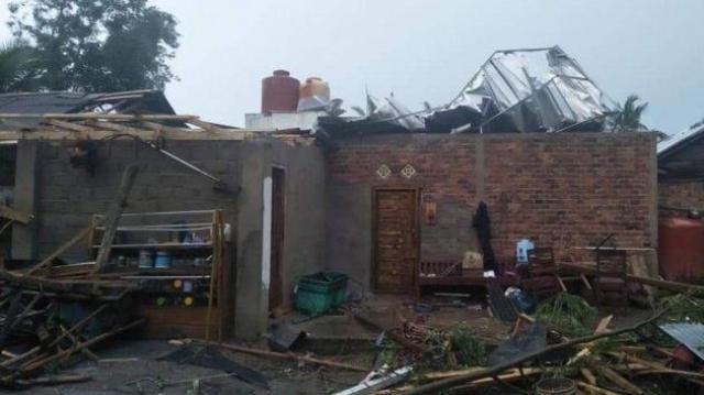 9 Rumah Di Desa Rejo Sari Rusak Diterjang Puting Beliung