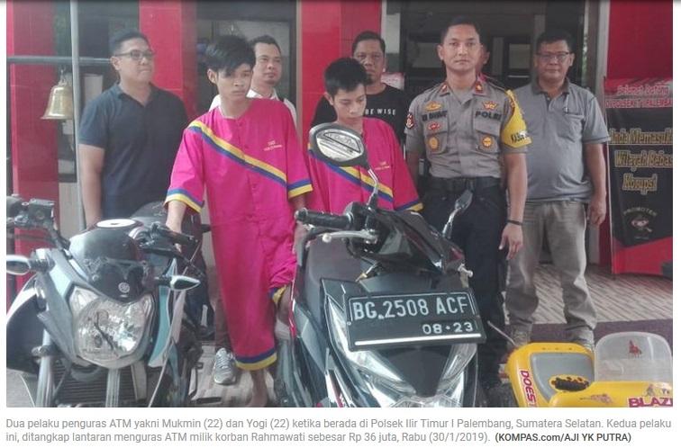 Dua Pelaku Penguras ATM Palembang Di Tangkap Polisi